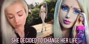 Pictures of the human Barbie after getting tired of being a doll